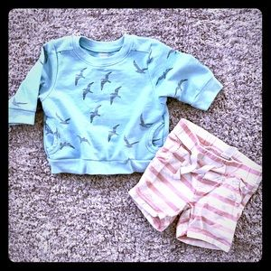 """Old Navy """"Flock of Seagulls"""" Infant Outfit"""